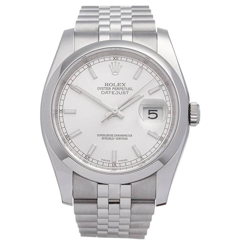 Rolex Datejust Stainless Steel Gents 116200