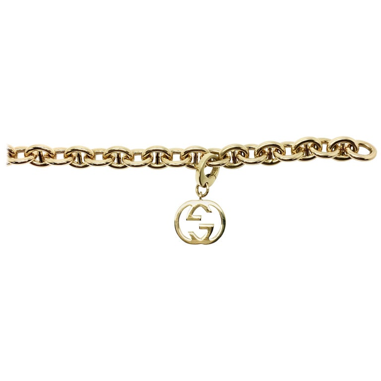 Gucci Link 18 Karat Yellow Gold Bracelet