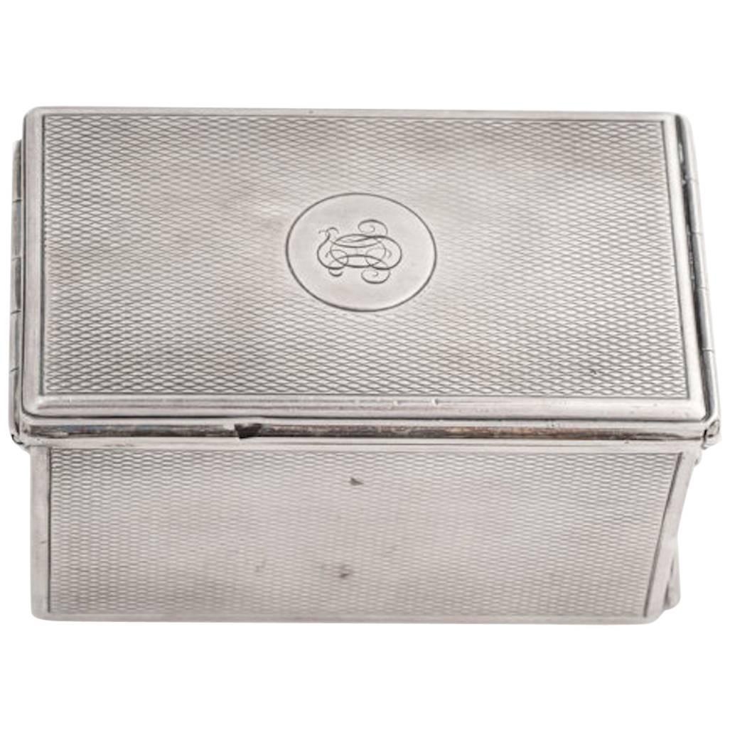1920s G Keller Paris Sterling Silver Jewelry Box For Sale at 1stdibs