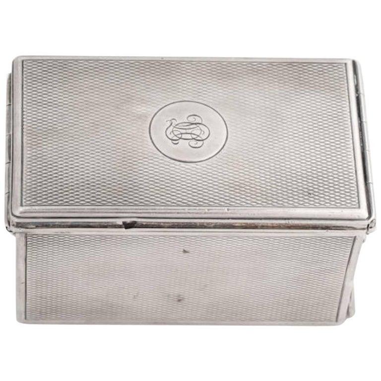1920s G. Keller Paris Sterling Silver Jewelry Box