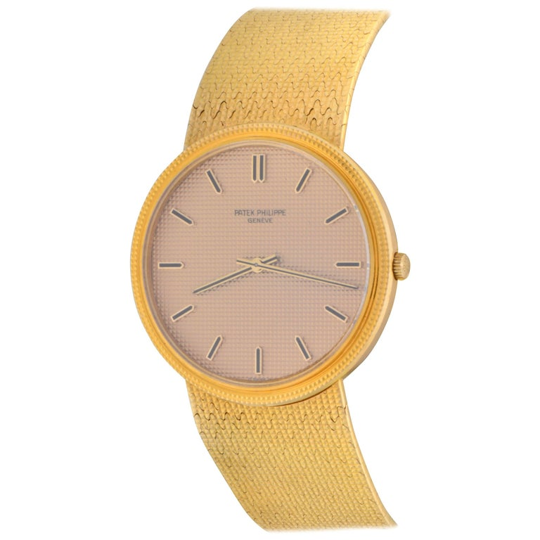 Patek Philippe Yellow Gold Calatrava Ultra Thin Manual Wristwatch Ref 3611