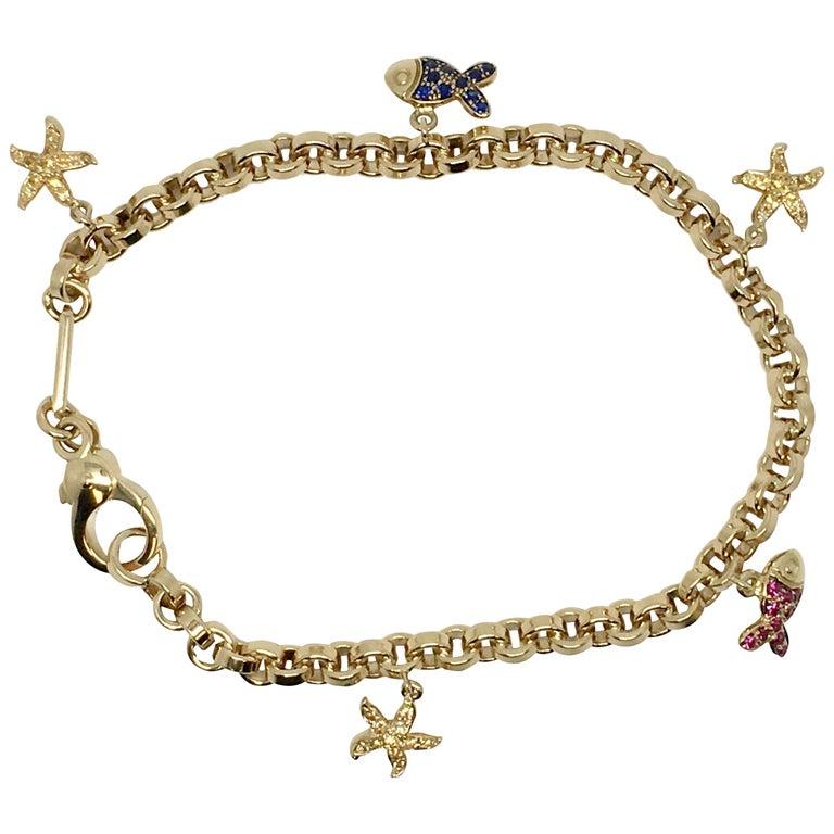Chopard 18 Karat Yellow Gold Link Bracelet