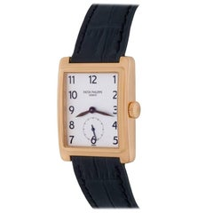 Patek Philippe Yellow Gold Gondolo Manual Wind Wristwatch Ref 5010