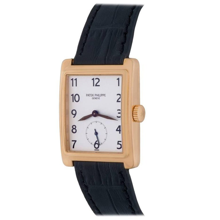Patek Philippe Yellow Gold Gondolo Manual Wind Wristwatch Ref 5010 For Sale