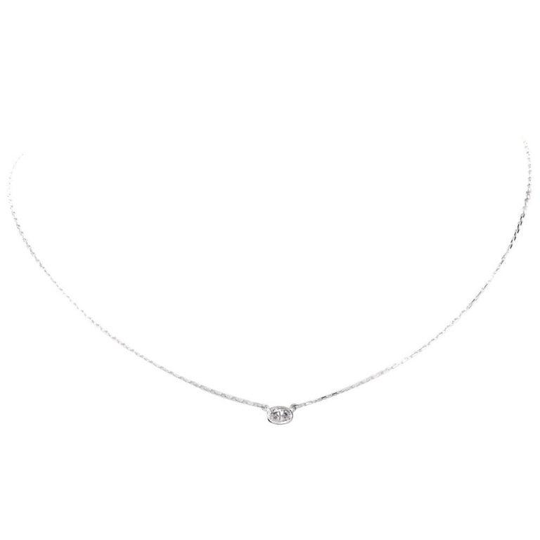 Oval Diamond by Yard Pendant Gold Pendant Necklace