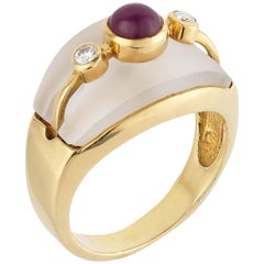 Lalaounis Frosted Ruby Cabochon Ring