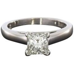 1.11 Carat Princess Diamond Solitaire Engagement Ring
