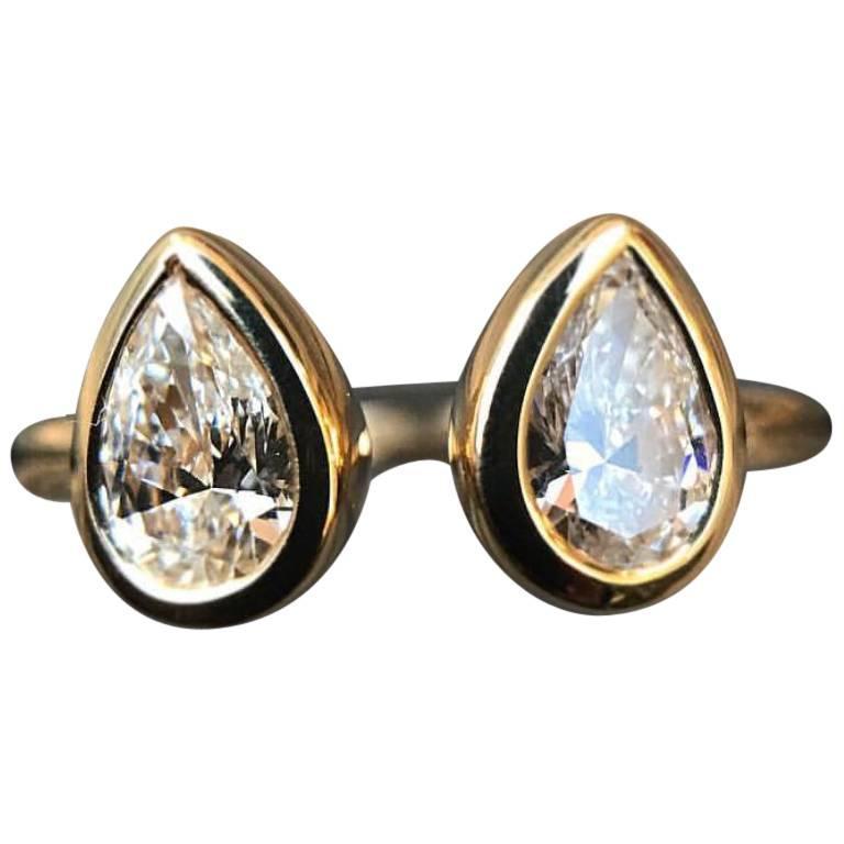 GIA Certified Canadian Diamond and 18 Karat Gold Ring