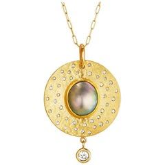 Sea of Cortez Mabe Pearl Diamond Pendant