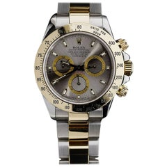 Rolex Yellow Gold Stainless Steel Daytona Cosmograph Wristwatch Ref 116523