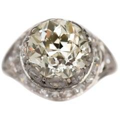 3.11 Carat Diamond Platinum Engagement Ring