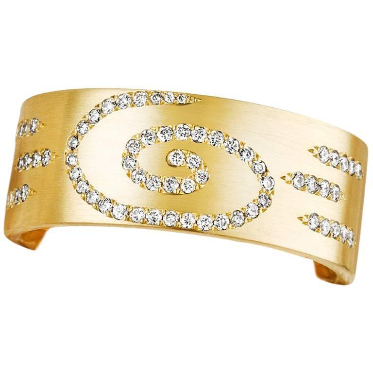 Hand Set Canadian Diamond Micropavé 18 Karat Gold Band Ring