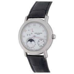 Patek Philippe White Gold Moonphase Automatic Wristwatch