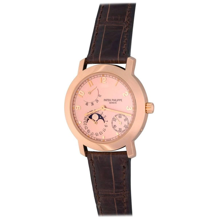 Patek Philippe Rose Gold Moonphase Automatic Wristwatch
