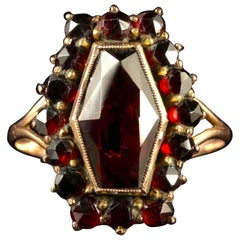 Antique Victorian Bohemian Garnet Ring, circa 1900