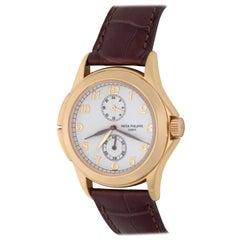 Patek Philippe Yellow Gold Travel Time Manual Wind Wristwatch