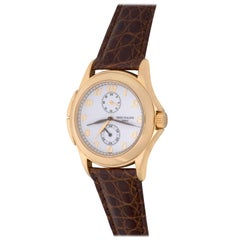 Patek Philippe Yellow Gold Travel Time Manual Wind Wristwatch Ref 5134J-001