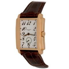 Patek Philippe Yellow Gold Gondolo Manual Wind Wristwatch Ref 5024J