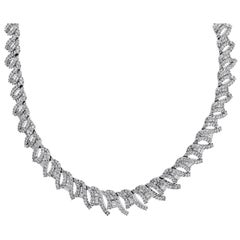 21.94 Carat Diamond Statement Necklace