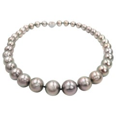Graduated Black South Sea Pearl Necklace