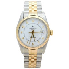 Rolex Yellow Gold Stainless Steel Datejust Vintage Automatic Wristwatch