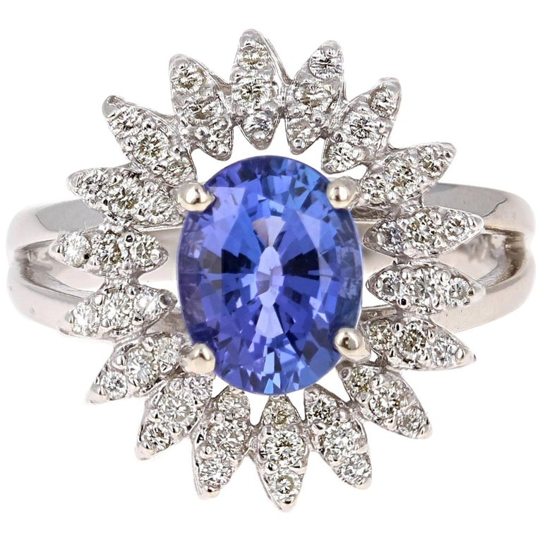 2.48 Carat Tanzanite Diamond Ring
