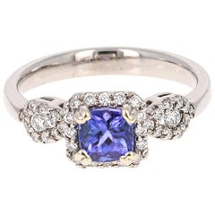 1.10 Carat Tanzanite Diamond Ring