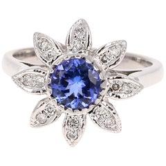 1.14 Carat Tanzanite Diamond Ring