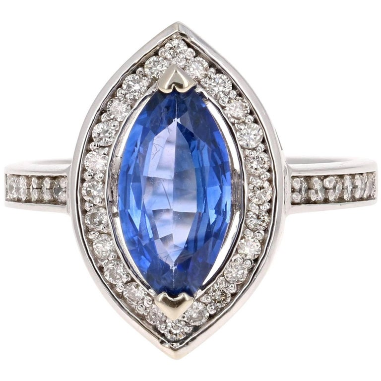 2.24 Carat Tanzanite Diamond White Gold Ring
