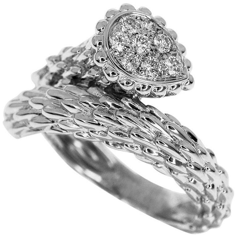 Boucheron Serpent Bohème Toi et Moi Diamond 0.33 Carat Ring 18 Karat White Gold