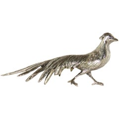 Vintage Solid Silver Figurines Model of a Peacock