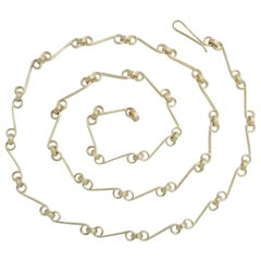 Yellow Gold Interconnecting Chain