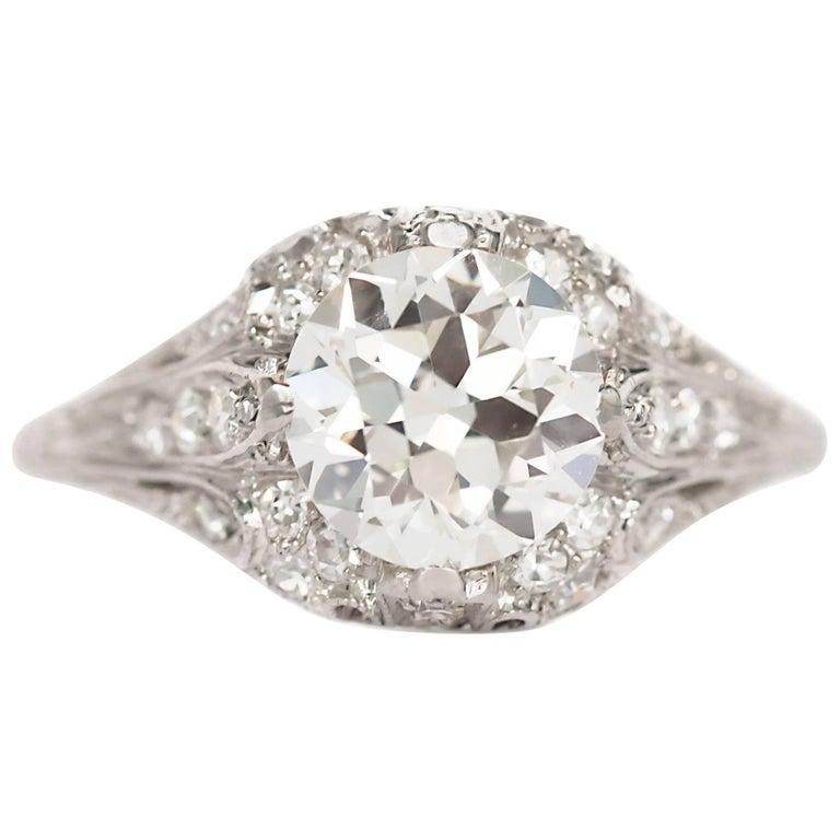 1.90 Carat Diamond Platinum Engagement Ring