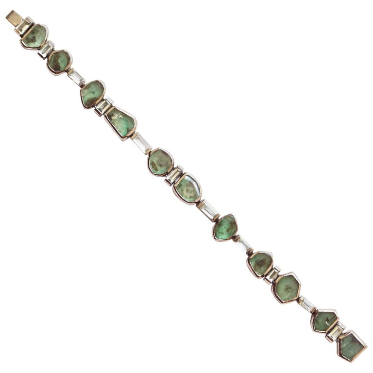 Sharon Khazzam Emerald Manza Bracelet