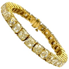 Yellow Diamond Tennis Bracelet 47.13 Carat