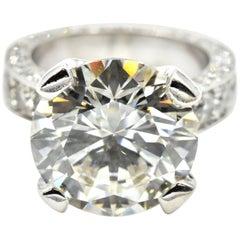 7.02 Carat Round Brilliant Diamond Engagement Ring