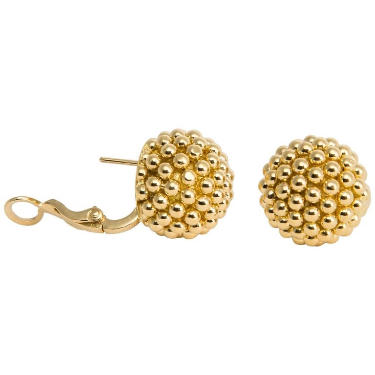 Vintage Cartier Beaded Dome Earrings