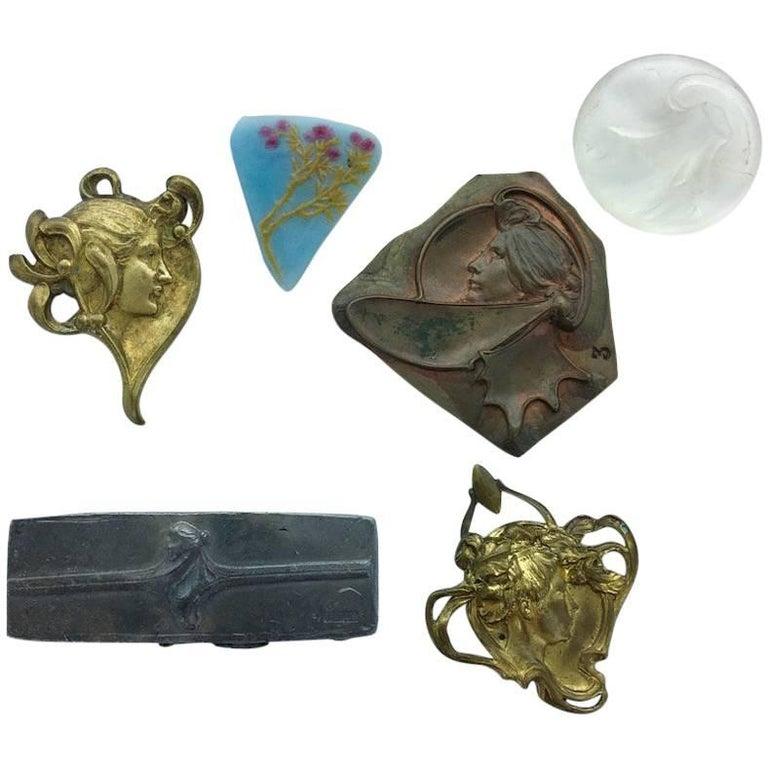 19th Century Vever Art Nouveau Six Elements