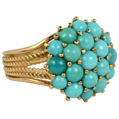 Turquoise Gold Dome Ring