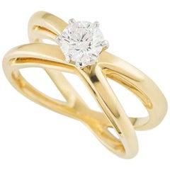 Tiffany & Co. Crossover Diamond Ring .40 carat