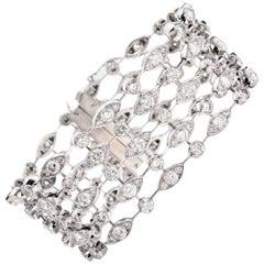 "Cartier ""Naiade"" Diamond Multi Strand 18 Karat Gold Bracelet"