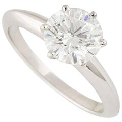 Tiffany & Co. Round Diamond Engagement Ring 1.53 Carat