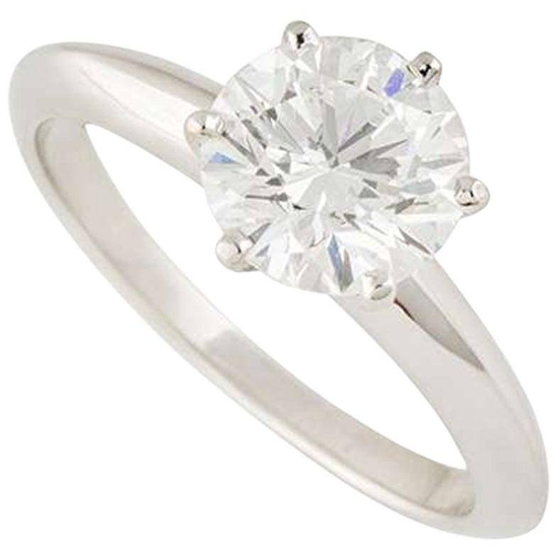 Tiffany & Co. Round Diamond Engagement Ring 1.53 Carat