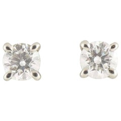Tiffany & Co. Solitaire Diamond Earrings 0.34 Carat