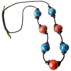 Doyle Lane California Studio Stoneware Beaded Necklace