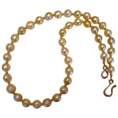 Michael Kneebone Golden Indonesian Baroque Pearl Necklace