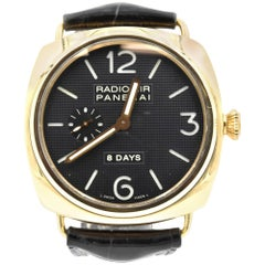 Panerai Rose Gold Radiomir 8-Day Power Reserve Manual Wristwatch Ref PAM 197