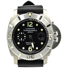 Panerai Titanium Luminor Submersible Automatic Wristwatch Ref PAM285