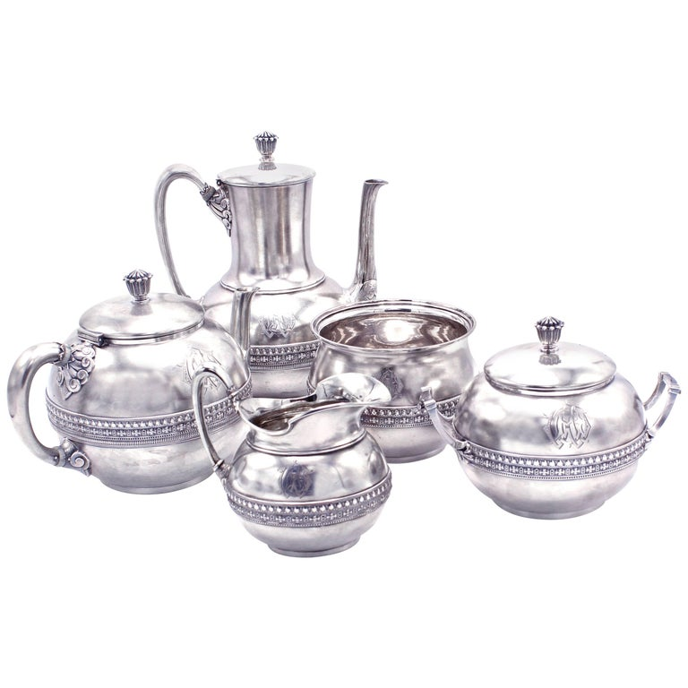Tiffany & Co. Five-Piece Coffee and Tea Set For Sale