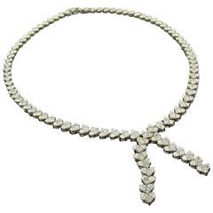 27.88 Carat Lariet-Style Diamond Necklace
